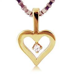 Stunning 14kt Yellow Gold Heart Pendant