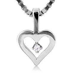 Beautiful Platinum Heart Pendant